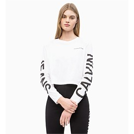 Institutional Logo Crewneck Cropped Tee
