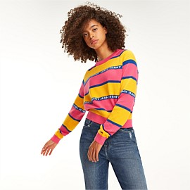 Logo Tape Stripe Sweater