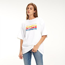 Coloured Lines Logo Tee