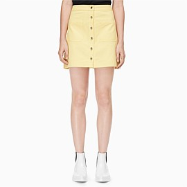Cotton Buttoned Mini Skirt