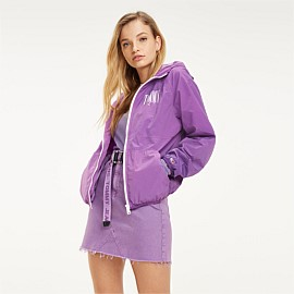 Hooded Contrast Zip Jacket