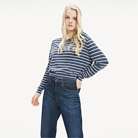 Stripe Cropped Fit Jumper