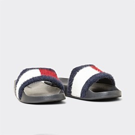 Flag Furry Slide Womens
