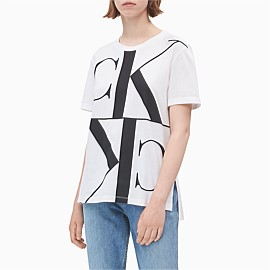 Mirrored Monogram Logo Tee