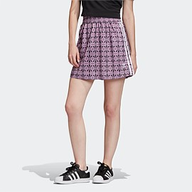 Trefoil Allover Print Skirt