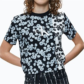 Cropped Floral T-Shirt